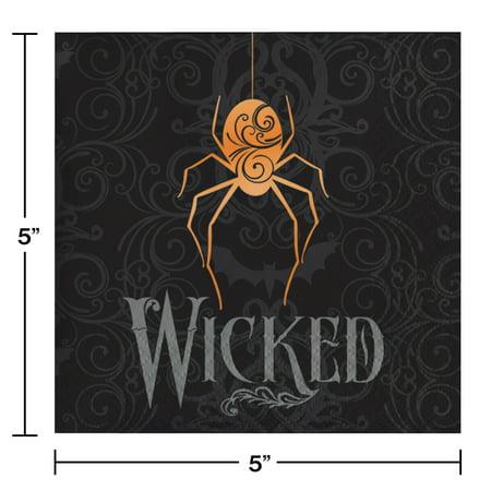 Halloween Spider Beverage Napkins, 48 count](Vineyard 48 Halloween)