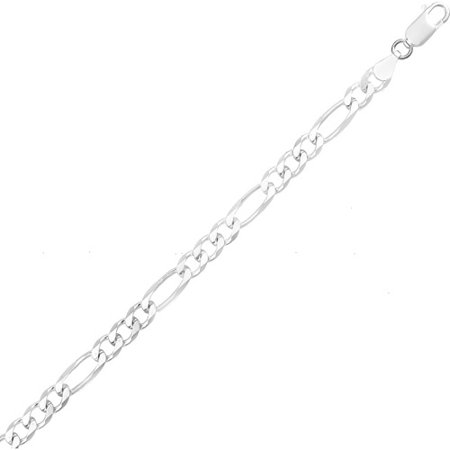 18 Figaro Necklace (Sterling Silver 4mm Italian Figaro Chain Necklace, Available in 18