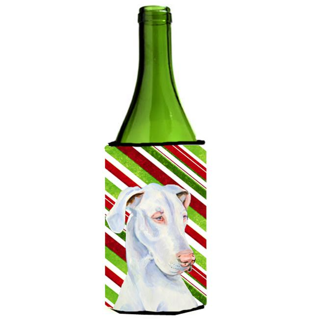 Great Dane Candy Cane Holiday Christmas Wine bottle sleeve Hugger - 24 oz. - image 1 de 1