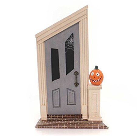 Lori Mitchell SPOOKY DOOR Polyresin Haunted Halloween 11048