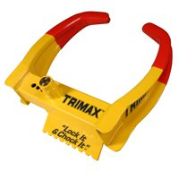 Trimax TCL65 Deluxe Universal Wheel Chock Lock-Yellow/Red