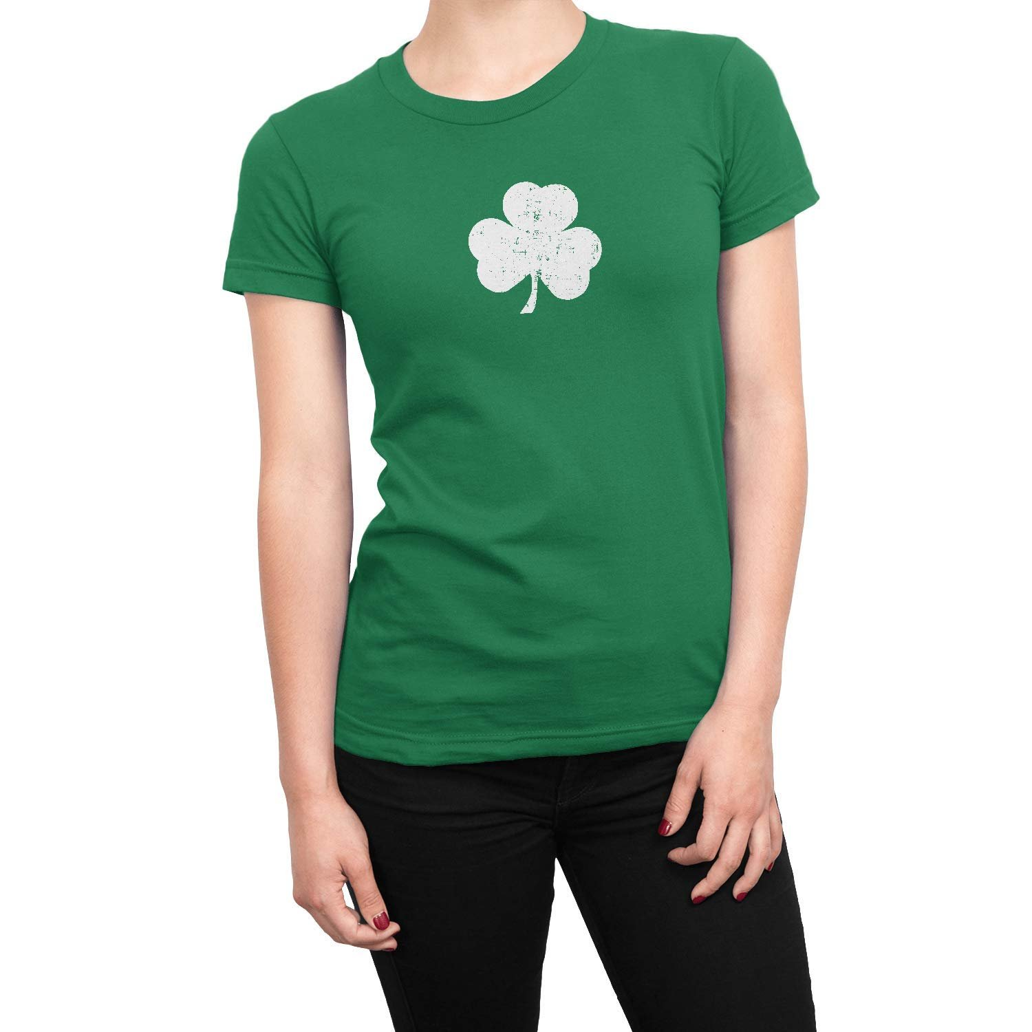 Screen Printed Shamrock Tote Bag St Irish Recycled Kelly Green by NYC FACTORY