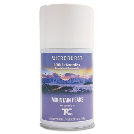 - Rubbermaid Commercial Microburst 9000 Air Neutralizer Mountain Peaks Refills, 5.3 oz, 4 count