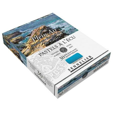 Sennelier Extra Soft Pastels Cardboard Box Set of 30 Half Sticks - Seaside Colors