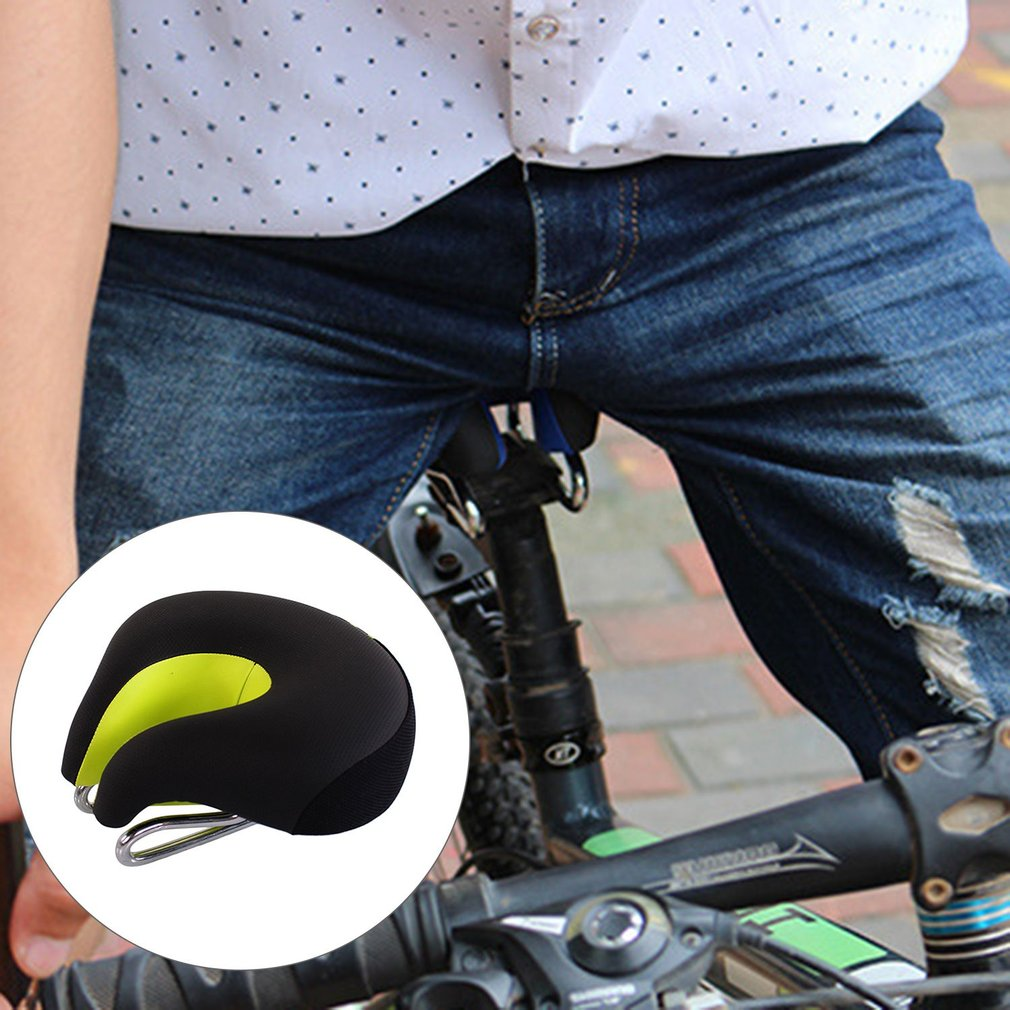 Bicycle seat,Outdoor Sports Bicycle Shock Absorption Mountain Bike Saddle Hollow Bike Seat by