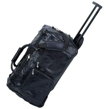 Leather Italian Genuine Luggage Set - Italian Stone Design Genuine Leather 21 Trolley/Tote Bag