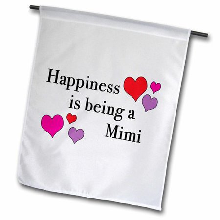 Image of 3dRose Happiness Is Being a Mimi Polyester 1'6'' x 1' Garden Flag