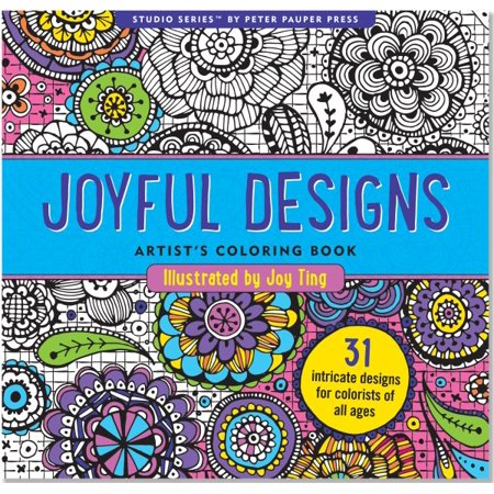 Joyful Designs Artist's Adult Coloring Book - Coloring Therapy For Adults