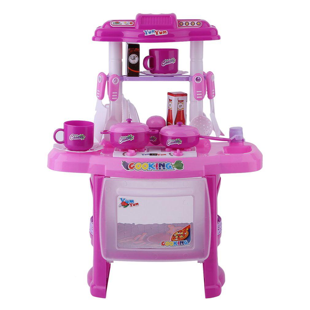 pretend play kitchen set for kids, kitchen toys tableware dishes