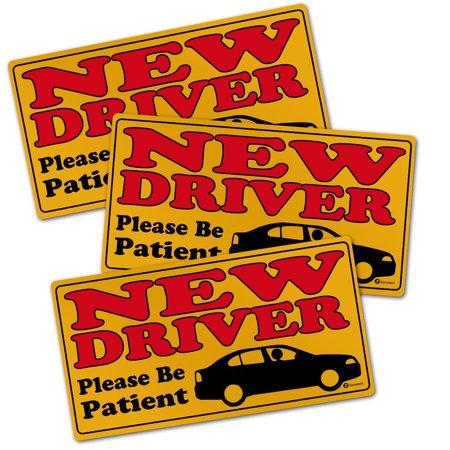 New Samsung Magnet - Zone Tech New Driver Please Be Patient Automotive Car Vinyl Magnet REFLECTIVE Set of 3