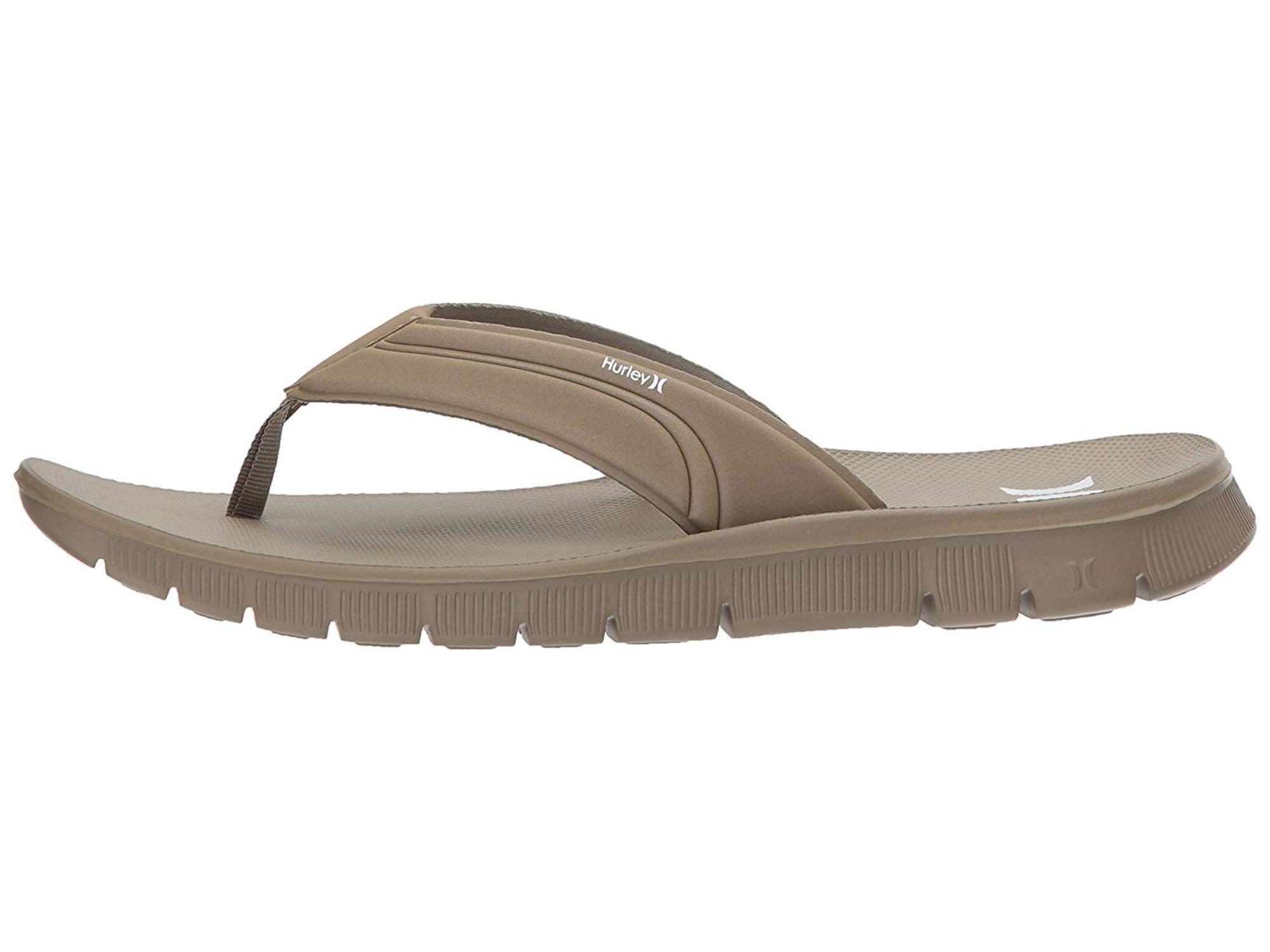 2364a82ae2e Hurley Mens fusion Slip On Open Toe Flip Flops
