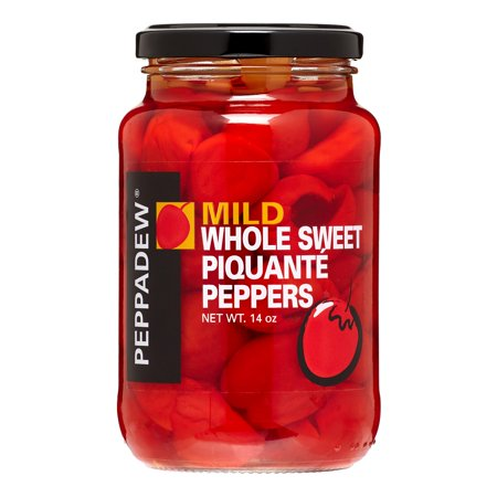 - (6 Pack) Peppadew Whole Piquatne Sweet Peppers, Mild, 14.0 Oz