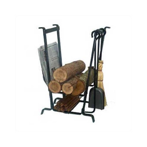Enclume USA Handcrafted Lodge Log Rack with Tools ...