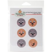 Peachy Keen Stamps Clear Face Assortment 6/pkg-wide Eyed & Bushy Tailed