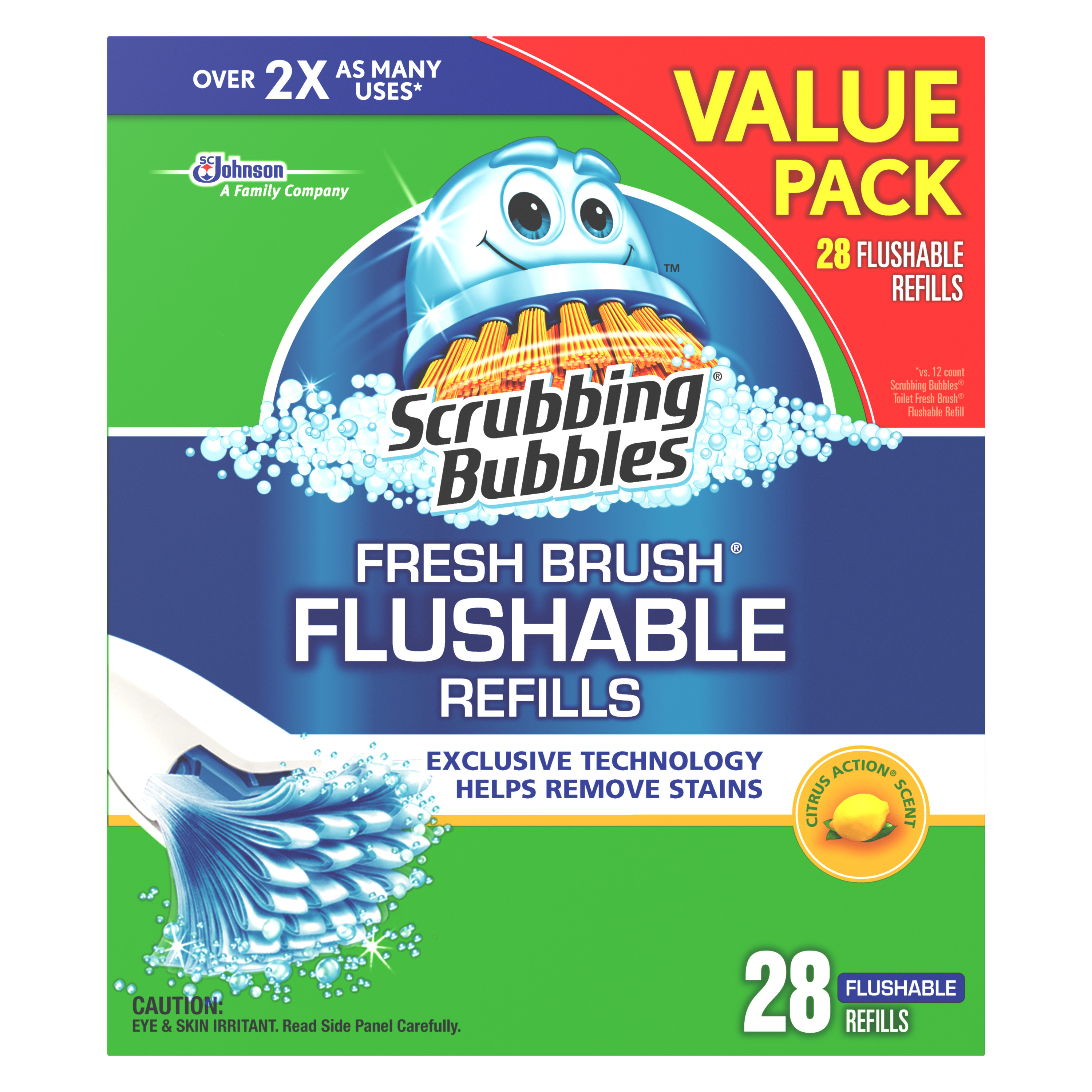 Scrubbing Bubbles Fresh Brush Flushable Refills 28 count