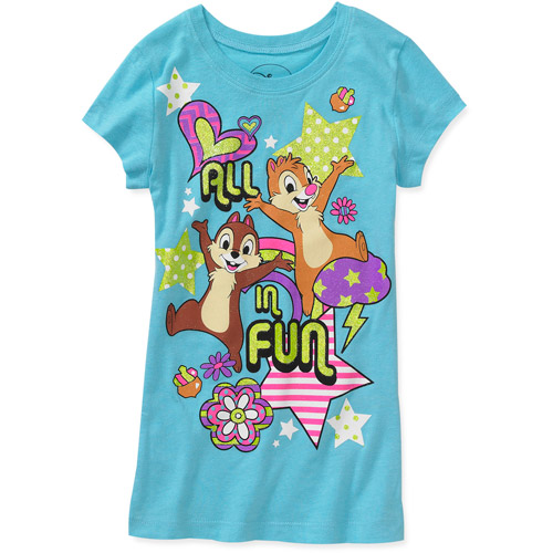 Disney - Girls' Chip n' Dale All In Fun Graphic Tee