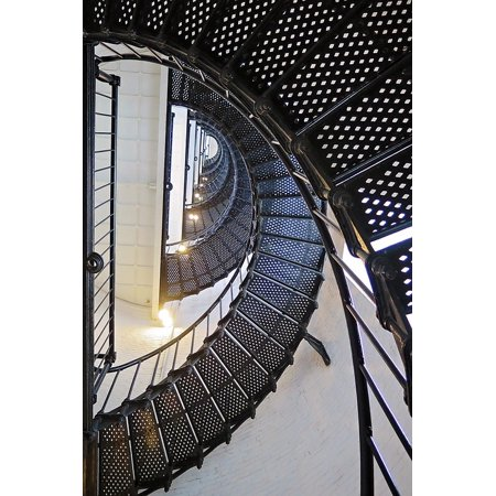 LAMINATED POSTER Lighthouse Spiral Architecture Steps Stairs Poster Print 24 x 36