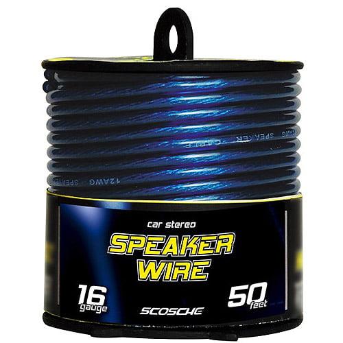 40 Feet 18 Gauge Speaker Wire Blue High Performance By Scosche