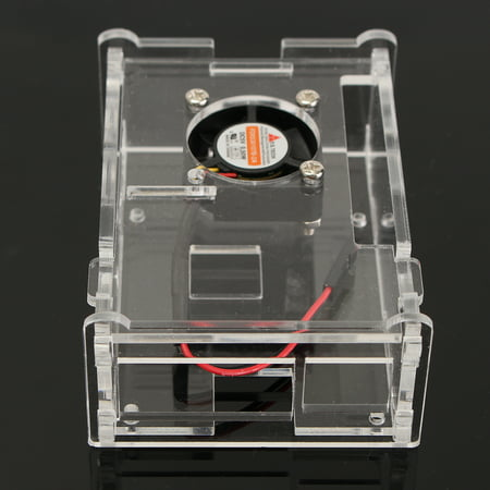 Acrylic Clear Case Enclosure Box Cooling Fan Board Kit for Raspberry Pi 3 (Best Cooling Case For Raspberry Pi 3)