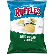 Ruffles Sour Cream & Onion Potato Chips, 8.5 oz Bag