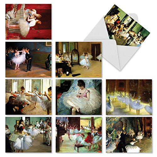 'M10031BK NOTES TUTU YOU' 10 Assorted All Occasions Note Cards Feature Famous Paintings of Ballet Dancers with Envelopes by The Best Card Company