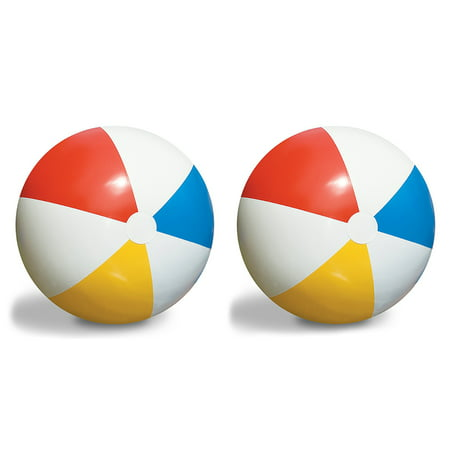 2-Pack Swimline Inflatable 36-Inch Classic Rainbow Giant Beach Balls | 2 x 90036