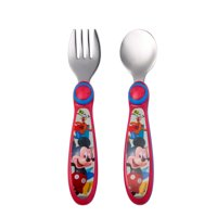 Deals on The First Years Disney Mickey Mouse Easy Grasp Fork & Spoon