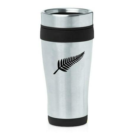 d7e8e6ea4a9 16oz Insulated Stainless Steel Travel Mug New Zealand Silver Fern (Black) -  Walmart.com