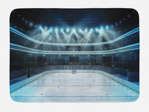Hockey Bath Mat Photo Of A Sports Arena Full Of People