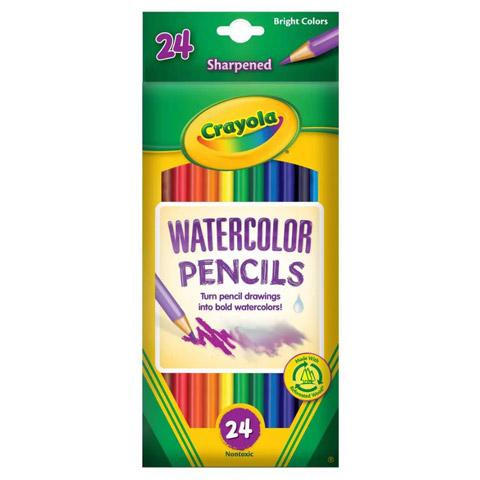Crayola Watercolor Colored Pencils, 24 Count