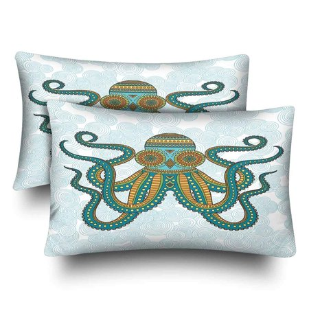 GCKG Funny Animal Octopus Pillow Cases Pillowcase 20x30 inches Set of 2 - image 4 de 4