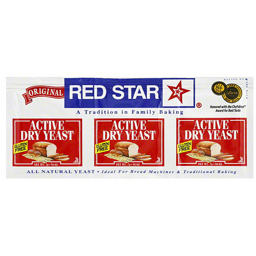 Red Star Active Dry Yeast, .25 oz, (Pack of 18)