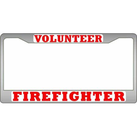 Volunteer Firefighter Chrome License Plate Frame - Walmart.com
