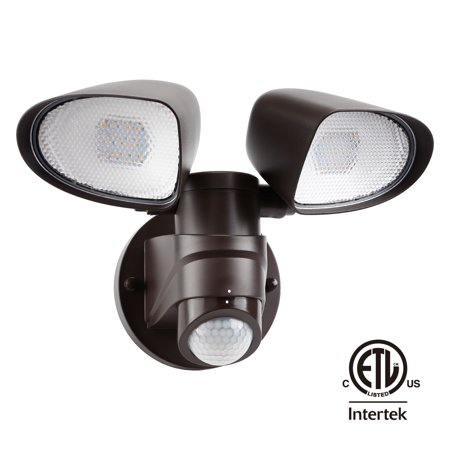 Dual Head Led Outdoor Security Light Ultra Bright 1400lm