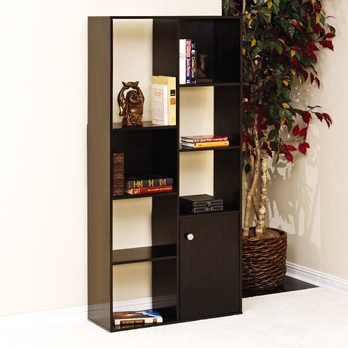 Sauder Market Park Multi Cubby Bookcase, Black Apricot Finish