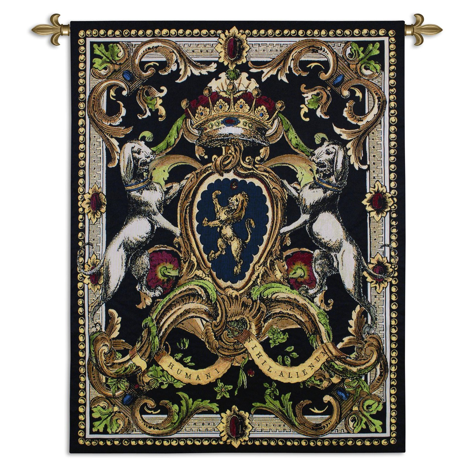Fine Art Tapestries Crest On Black I Wall Tapestry by Supplier Generic