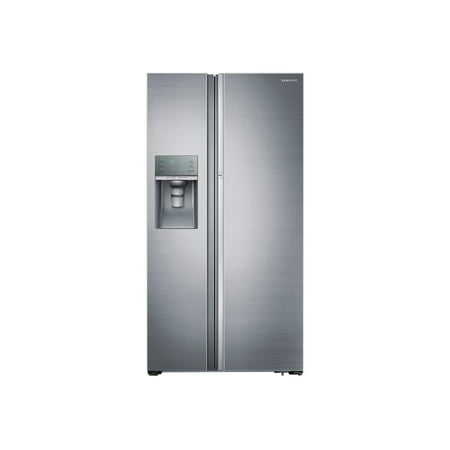 Samsung RH22H9010SR - Refrigerator/freezer - side-by-side with water dispenser, ice dispenser - freestanding - width: 35.9 in - depth: 28.3 in - height: 69.8 in - 21.5 cu. ft - stainless steel