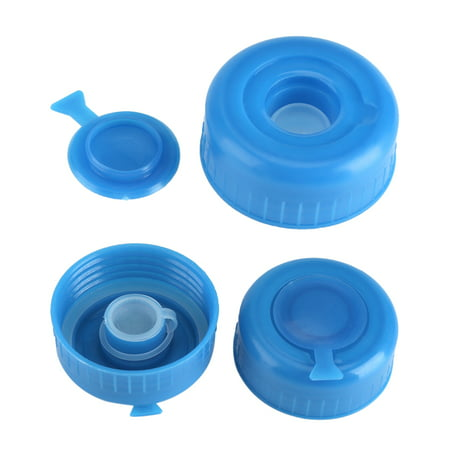 - 5PCS 3 & 5 Gallon Water Jug Cap Replacement Non Spill Bottle Caps with Cap-Opener Anti Splash Peel