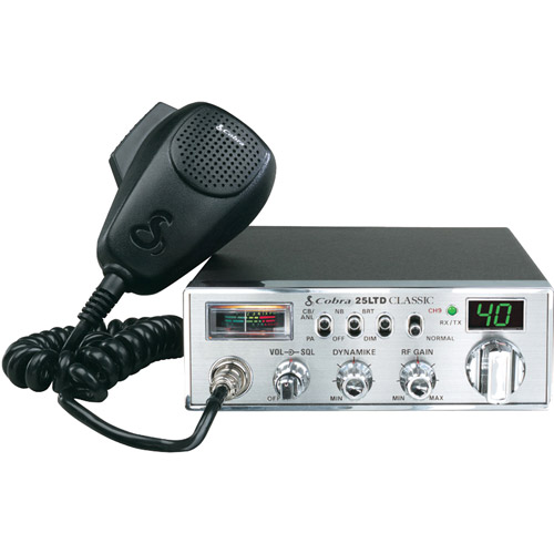 Cobra 25 LTD CB Radio, 40 channel, 4 Watt
