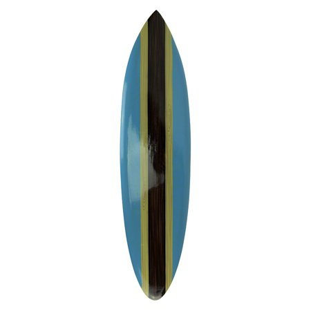Striped Wooden Mini Surfboard Wall Hanging 39 inch ()