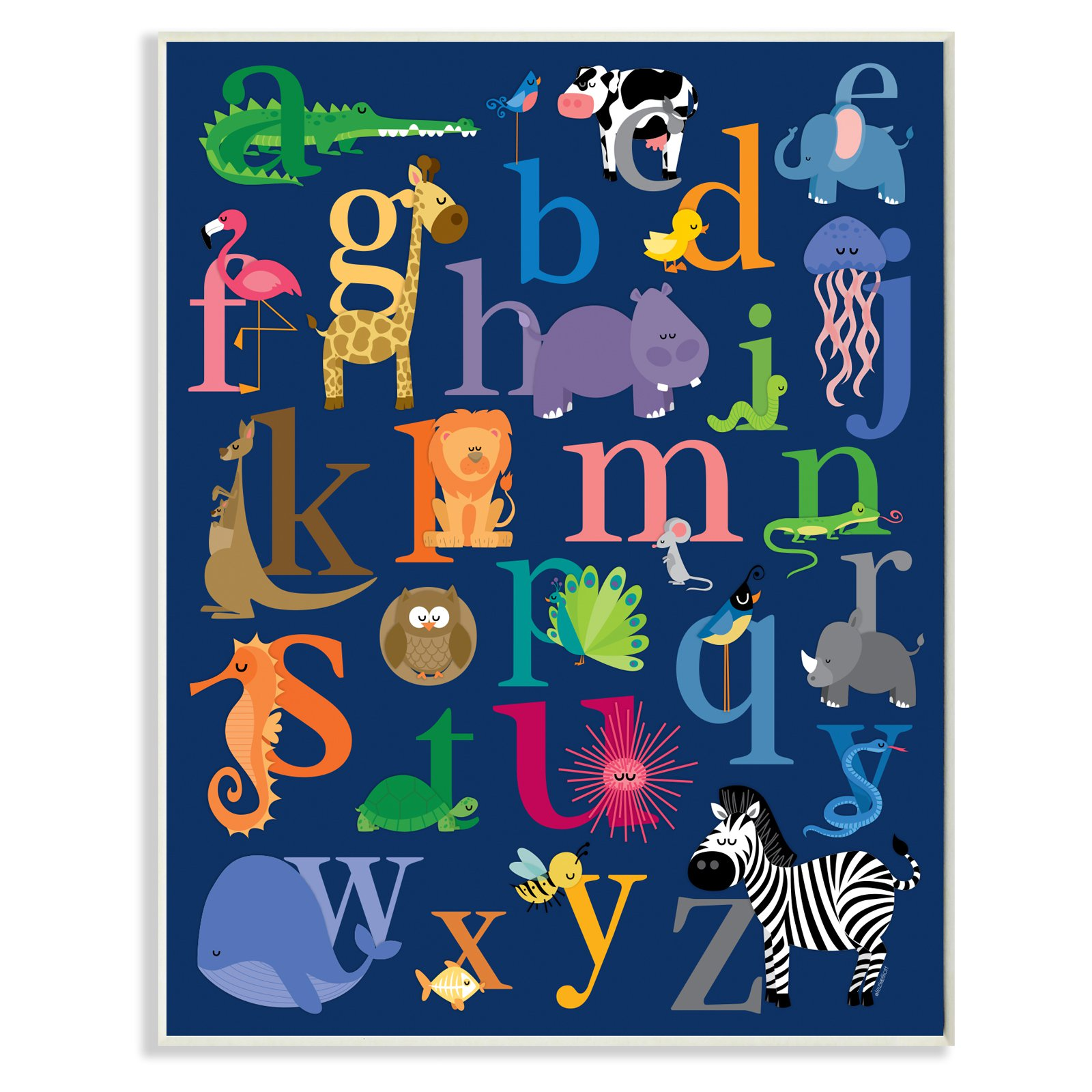 the 1 phone the stupell home decor collection alphabet animal icons 22075