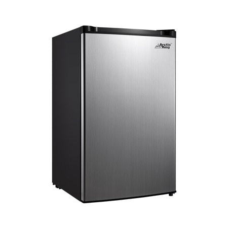 Arctic King 4.4 Cu Ft One Door Mini Fridge ARM044S1ARSV, Stainless