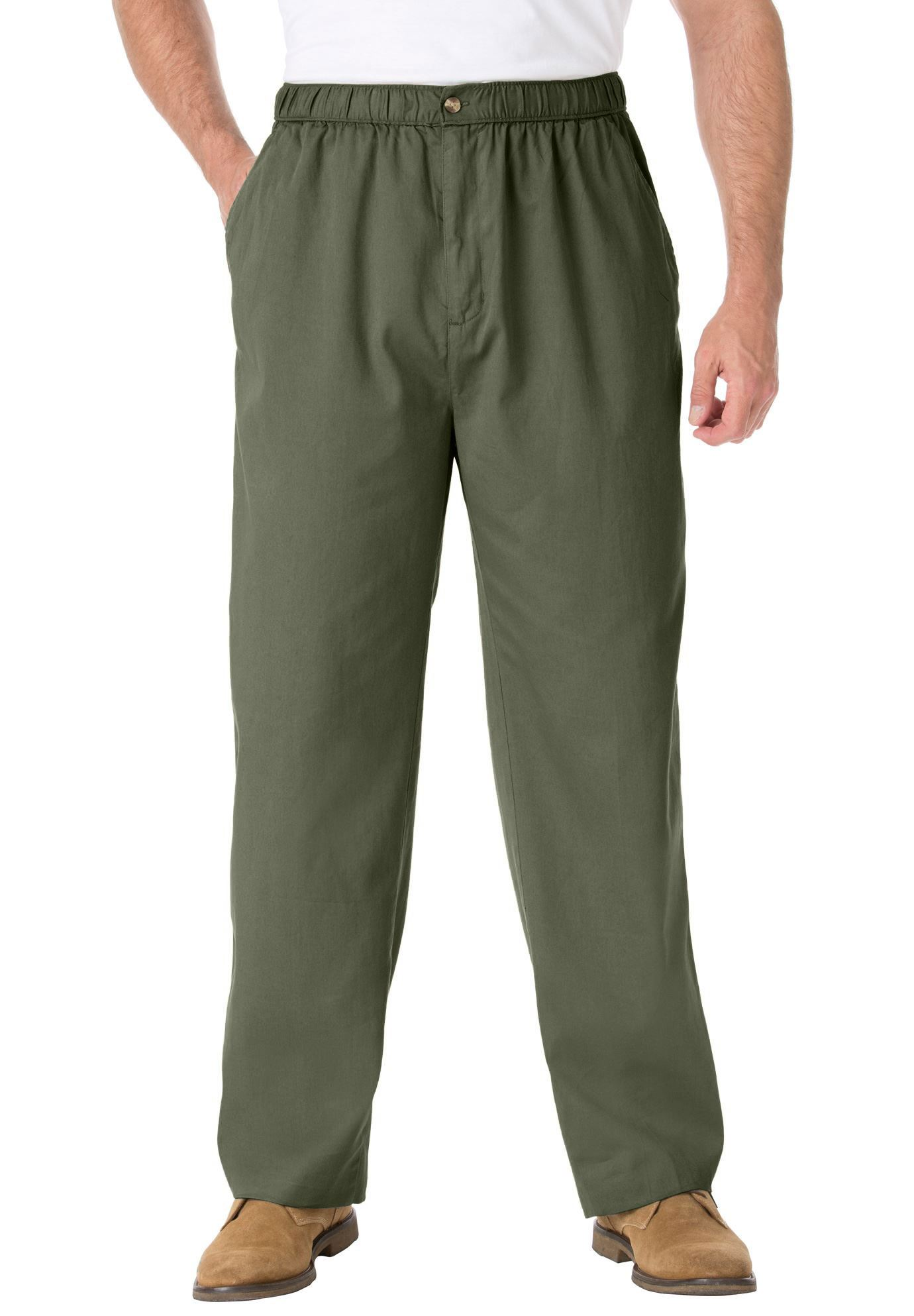 Kingsize Men's Big & Tall Knockarounds Plain Front Pants In Twill Or Denim