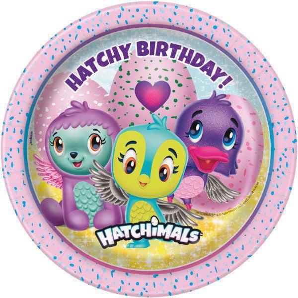 "Hatchimals 7"" Cake Plates (8 Count)"