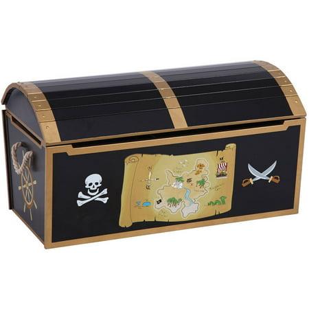 Guidecraft Pirate Treasure Chest, Black - Walmart.com
