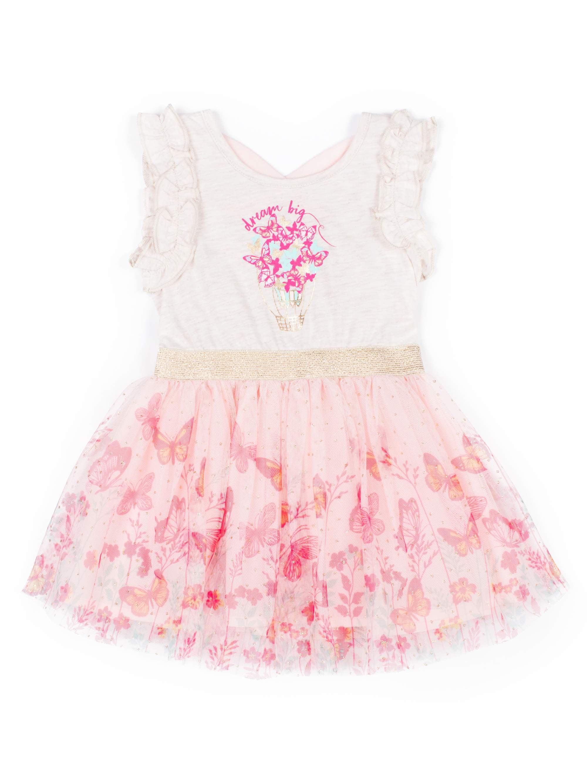 Dream Big Butterfly Tulle Dress (Little Girls)