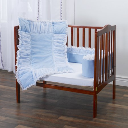 Blue with Tulle Portable Crib Bedding Set (Crib Bedding Set Blue)