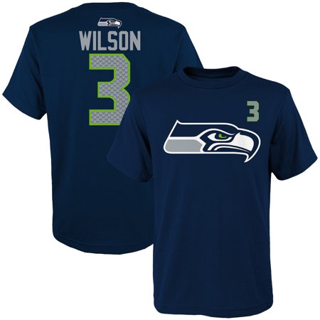 Youth Russell Wilson College Navy Seattle Seahawks Player Name & Number