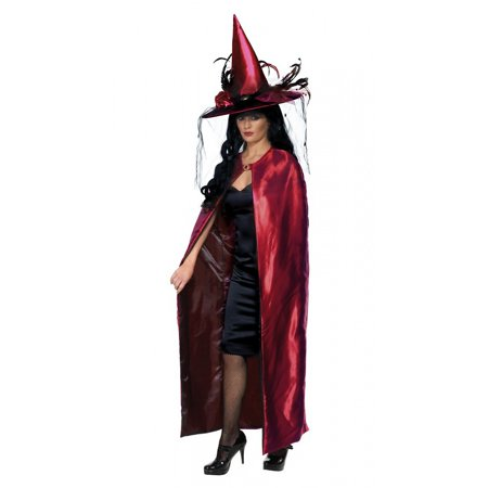 Womens Halloween Costumes Under 20 Dollars (Reversible Cape Adult Costume Red -)