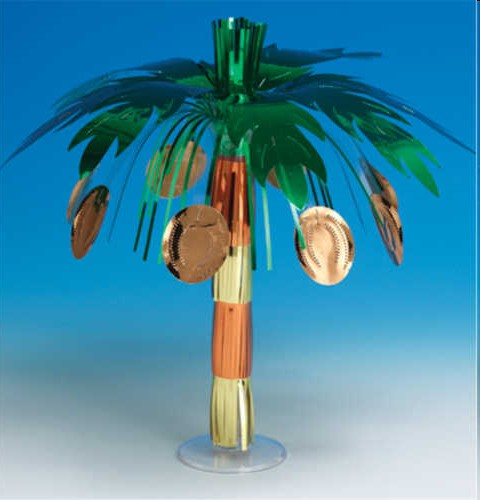 Luau Party Foil Coconut Tree Centerpiece